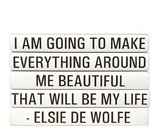 Quotation Stacking Books- Elsie De Wolfe