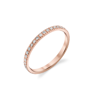 Gold Pave Diamond Eternity Ring