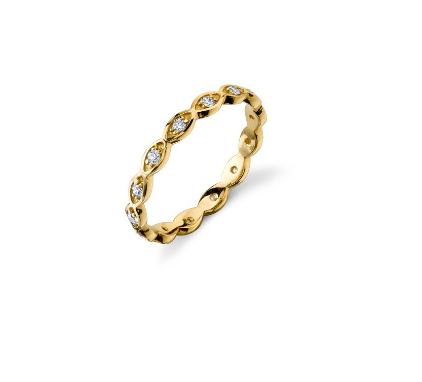 Yellow-Gold & Diamond Evil Eye Eternity Band