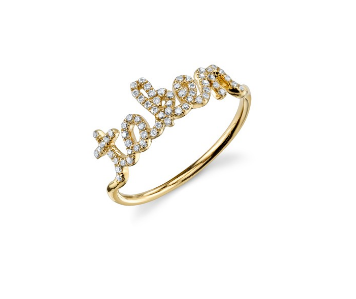 Gold & Pave Diamond Taken Ring
