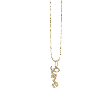 Gold & Diamond Love Charm Necklace