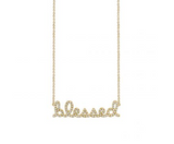 Small Gold & Diamond Blessed Necklace