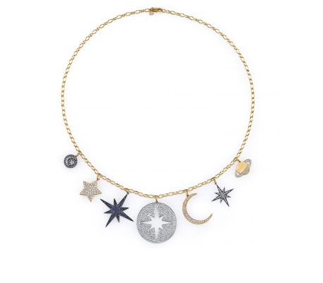 Gold & Diamond Multi Celestial Charm Necklace