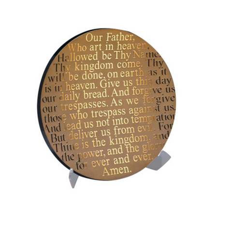 """Lords Prayer"" Decorative Glass Platter - RSVP Style"