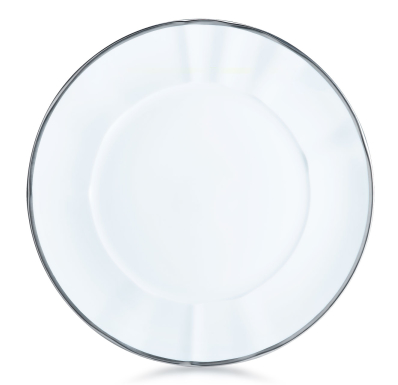 Simply Elegant White & Silver Salad Plate