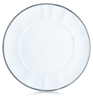 Simply Elegant White & Silver Dinner Plate