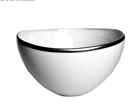 Simply Elegant White & Silver Bowl