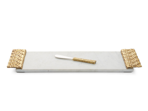 Palm Cheese Board with Spreader