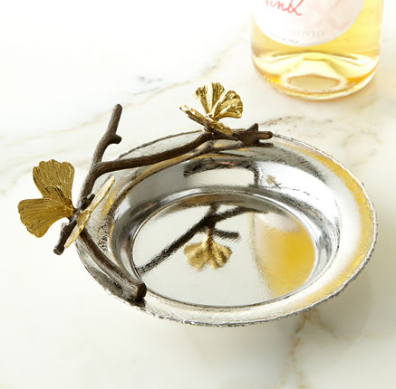 Butterfly Ginkgo Wine Coaster, vendor-unknown - RSVP Style