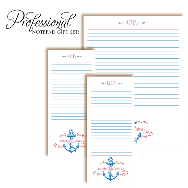 Customized Notepad Gift Set | Anchor