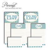 Customized Notepad Gift Set To Do List, RSVP-Style - RSVP Style
