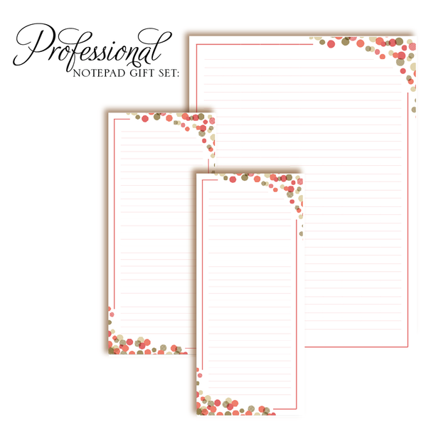 Customized Notepad Gift Set | Bubbly