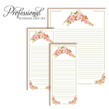 Customized Notepad Gift Set | Floral