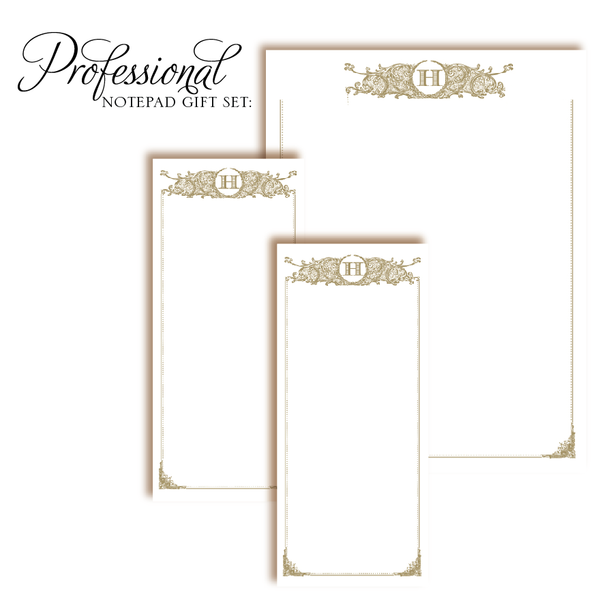 Customized Notepad Gift Set Regal Initial, RSVP-Style - RSVP Style