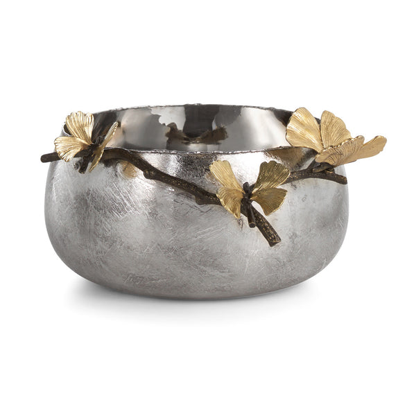 Butterfly Ginkgo Serving Bowl, vendor-unknown - RSVP Style