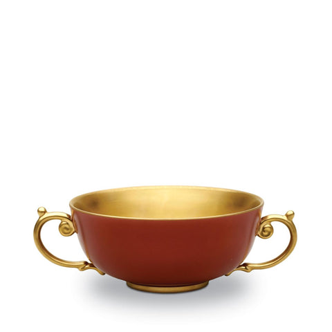 Alencon Red Soup Bowl