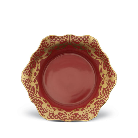 Alencon Red Soup Plate