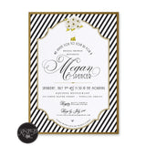 Striped Bouquet Bridal Shower Invitation