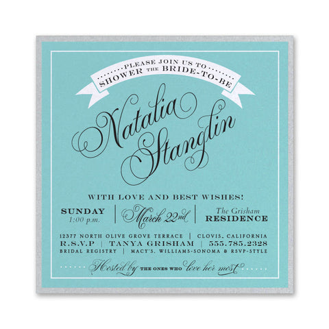 "Breakfast at Tiffany's 5""x5"", RSVP Style - RSVP Style"