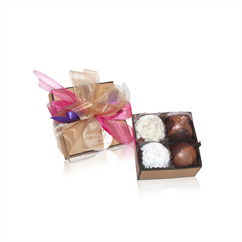 4 Piece Gourmet Assorted Truffles, RSVP Style - RSVP Style