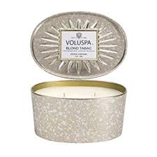 Blond Tabac 2 Wick Oval Tin Candle
