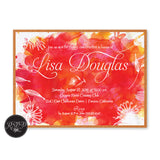 Watercolor Burst Birthday Invitation