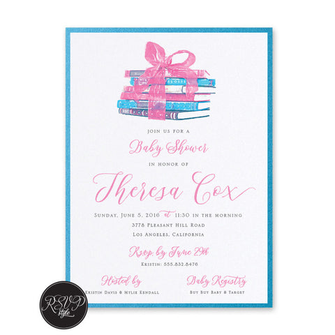 Little Bookworm Baby Shower Invitation