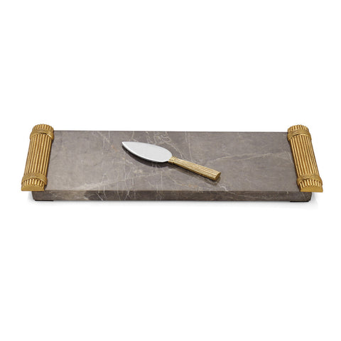 Wheat Cheese Board With Spreader - RSVP Style