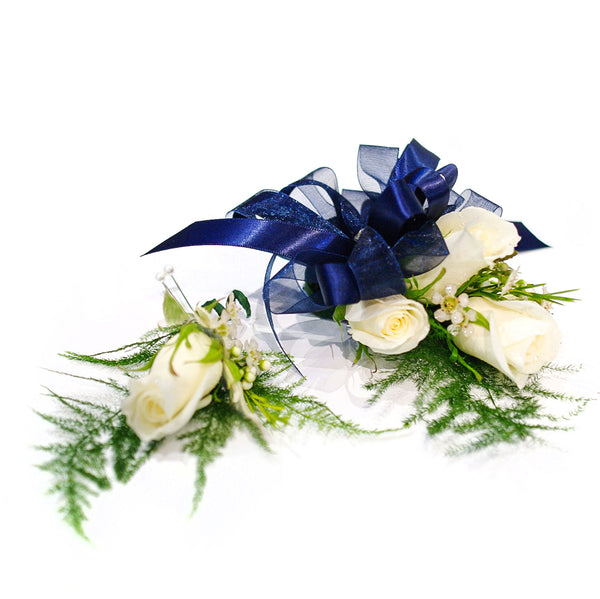 Triple Rose Corsage & Single Rose Boutonniere