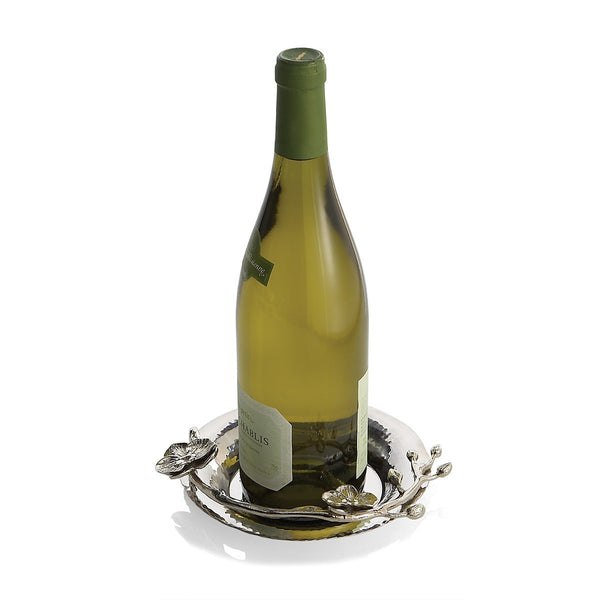 White Orchid Wine Coaster