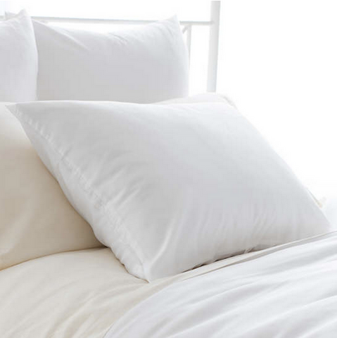Silken Solid Pillow Sham • White