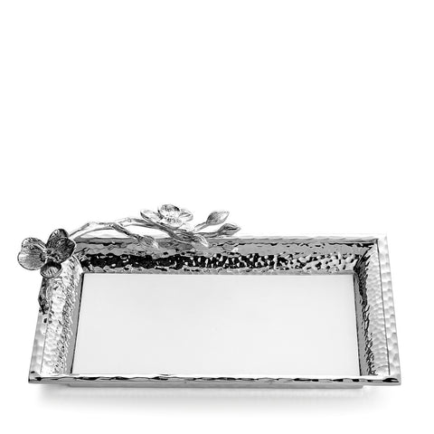 White Orchid Vanity Tray
