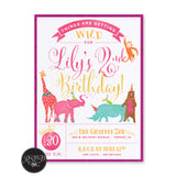 Wild Zoo Birthday Invitation