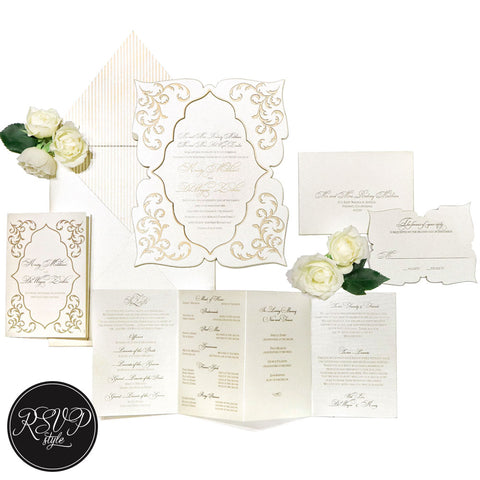Light & Lavish Ornate Wedding Invitation Suite - RSVP Style