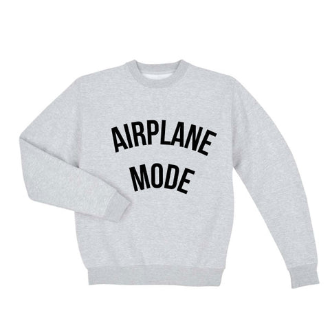 Airplane Mode Unisex Crew Neck Sweatshirt