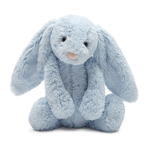 Bashful Bunny with Chime | Baby Blue