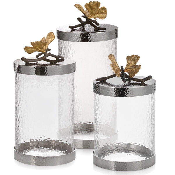 Butterfly Ginkgo Kitchen Canisters