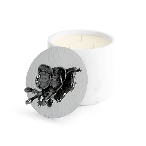 Black Orchid Marble Candle - RSVP Style