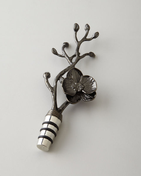 Black Orchid Wine Stopper, Michael Aram - RSVP Style