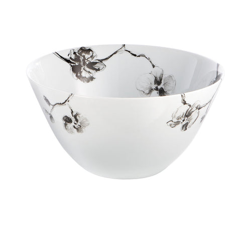 Black Orchid Serving Bowl