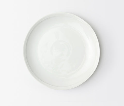 Ariana White Dinner Plate, Blue Pheasant - RSVP Style