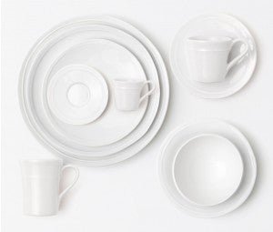 Ariana White Espresso Cup and Saucer - RSVP Style