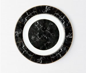 Eleni Black Marble Charger - RSVP Style