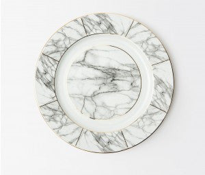 Eleni White Marble Charger