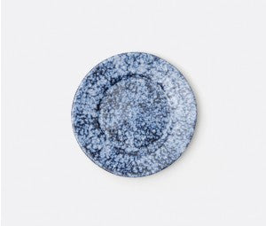 Isla Spotted White Navy Salad Plate