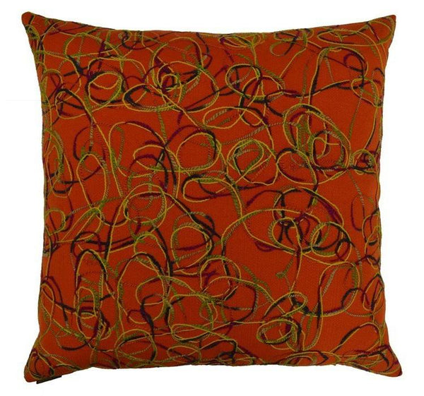 Scramble Throw Pillow | Carrot