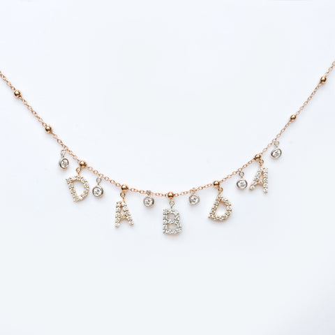 Diamond Inital Charm Necklace