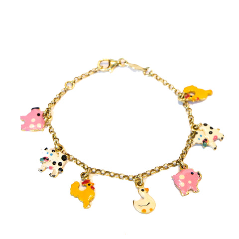 Childrens Farm Friends Charm bracelet