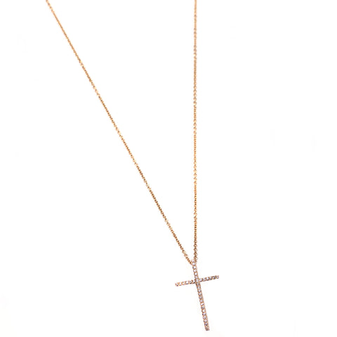 Diamond Cross Pendant Necklace - RSVP Style