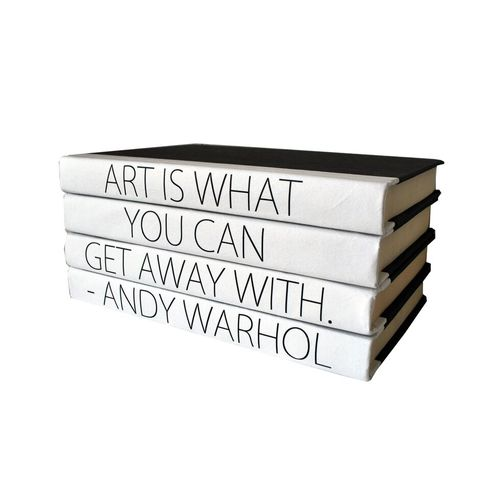 Quotation Stacking Books- Andy Warhol